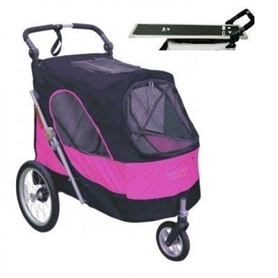 luxe-hondenbuggy-met-extra-trimblad-black-pink