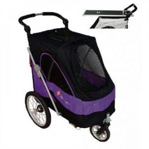 Luxe Hondenbuggy met extra Trimblad – Black Purple > 45 kilo