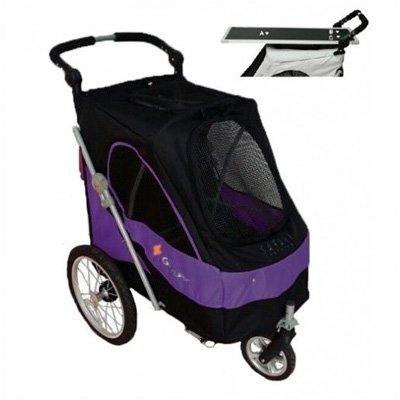 luxe-hondenbuggy-met-extra-trimblad-black-purple